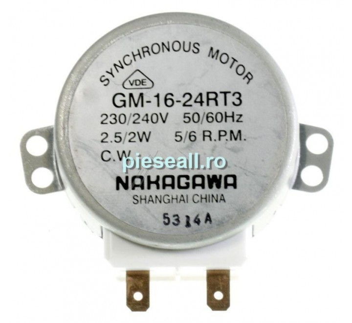 Motor rotire platan cuptor cu microunde FAGOR-BRANDT 2481842 GM1624RT3 MOTOR PLATAN