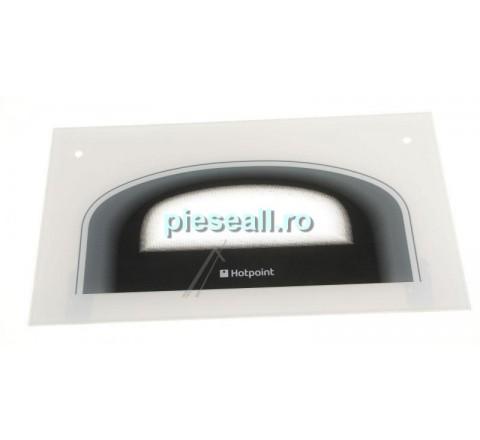 Geam exterior aragaz WHIRLPOOL, INDESIT 9978532 C00256101 OFEN TÜR OBEN GLASS PW- KLAMMERN