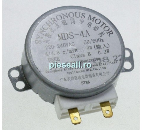 Motor rotire platan cuptor cu microunde DELONGHI G404213 TURNTABLE MOTOR MDS-4A MW489, 465, 475